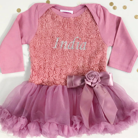 Rose Bodice Pettidress with Pettiskirt Personalised with Name