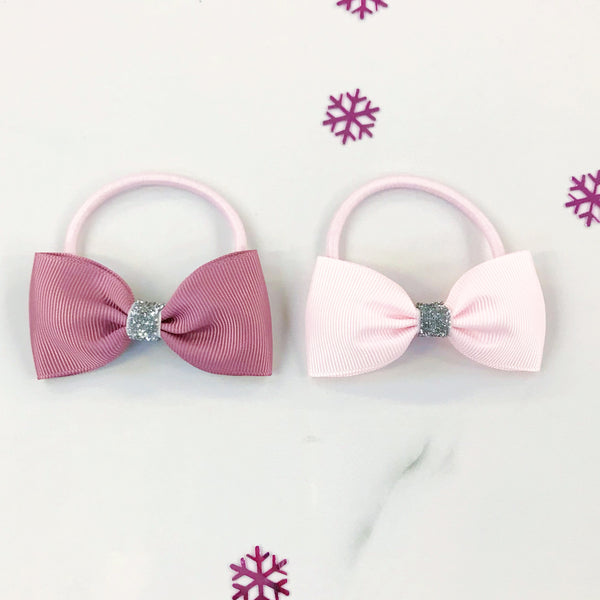 Sparkly Hair Bow Bobble Gift Set