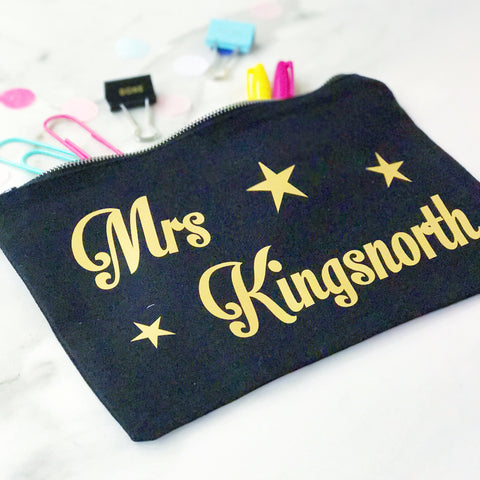 Thank You Teacher - Personalised Accessories Bag