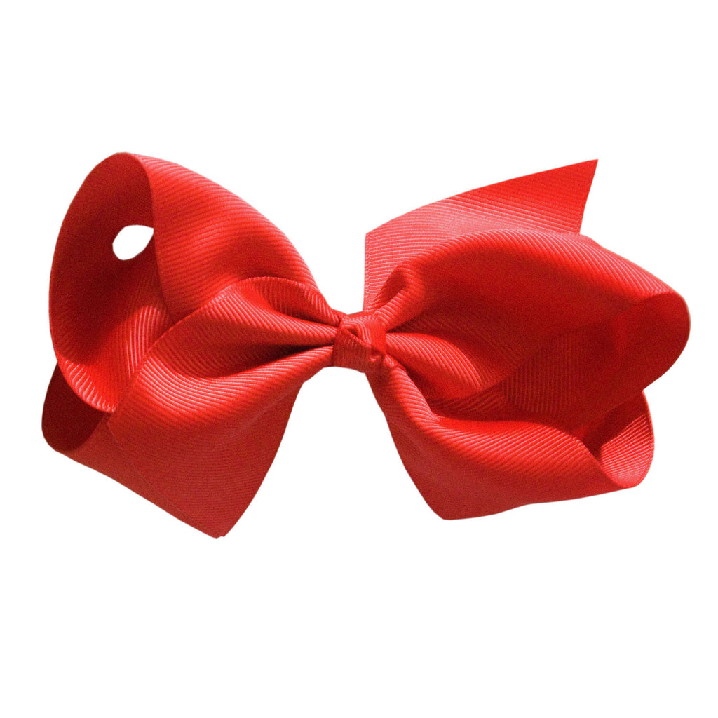 Boutique Hair Bows Solid Colours Shades Of Reds And