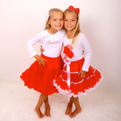 Christmas Candy Cane Pettiskirt Tutu & Satin Hair Bow