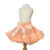 Peach Pettiskirt Tutu & Satin Hair Bow