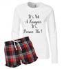 Ladies Weekend Recovery Prosecco & Gin Short Pyjamas with Long Sleeve Top