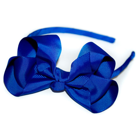 Girls Traditional Bow Headband (Various Colours)