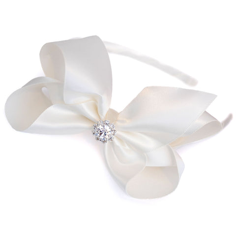 Satin crystal headband candy bows