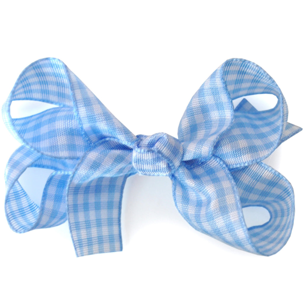 School Hair Bow In Gingham Ribbon Candy Bows