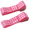 School Ribbon Clippies in Gingham Ribbon