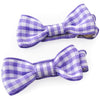 Back to School Gift Card and Pair of Mini Bow Clips in Solid and Gingham Ribbon
