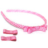 school hair accessories girls headband bobbles clips gingham candybows