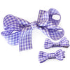 Gingham Ribbon Hair Bow and Mini Hair Bow Set