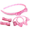 Girls School Hair Accessories Gift Set In Gingham Ribbon