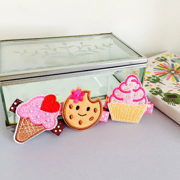 Yummy Tea Time Hair Clips Gift Set