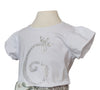 Ex Display / Ex Sample Girls Diamante Sparkly White Number T-Shirt
