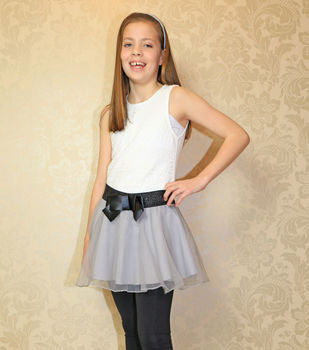 Girls Black Tween Twirl Party Skort and Tutu