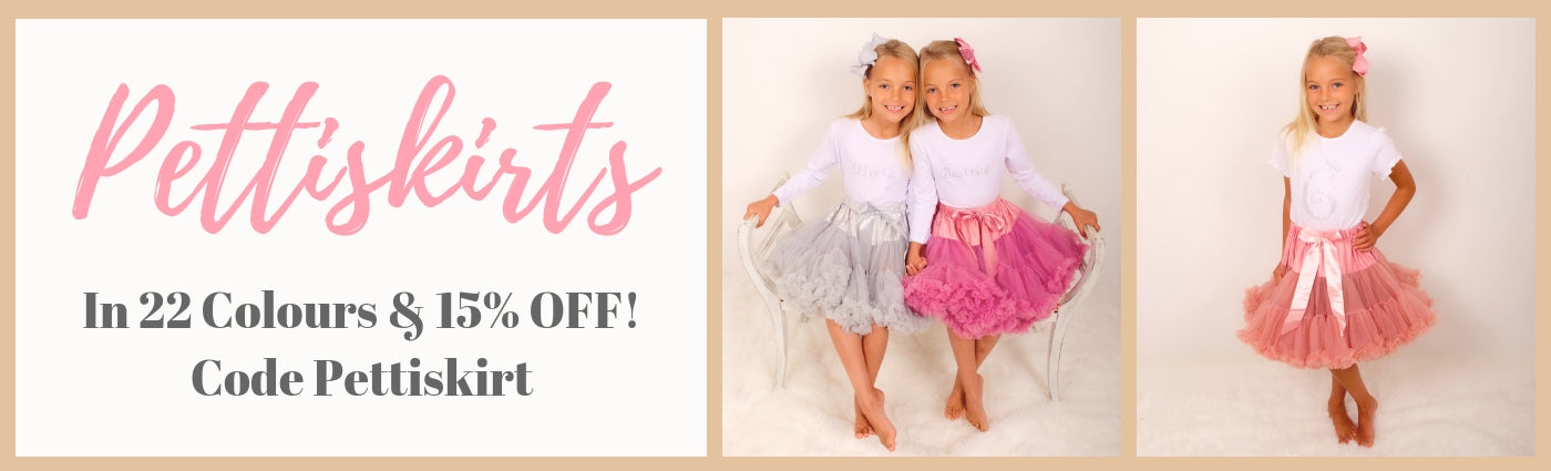 Childrens pettiskirts and bows