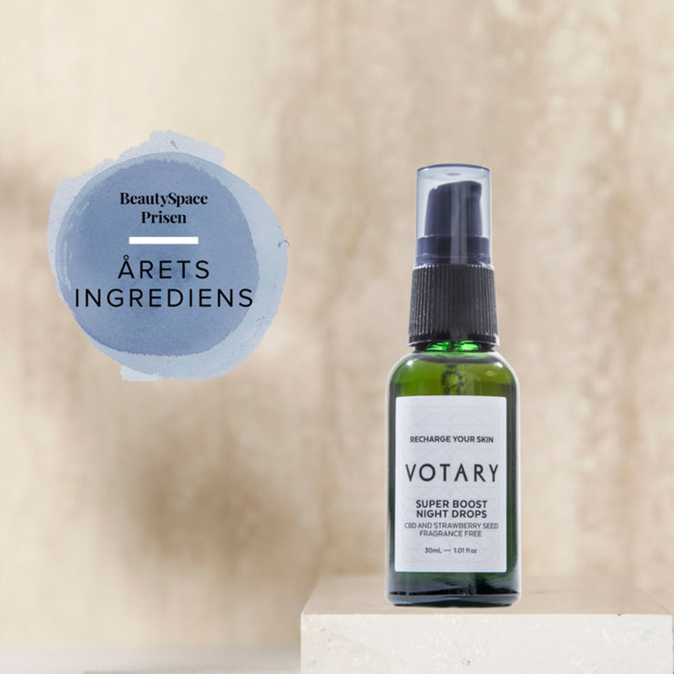 VOTARY Super Boost Night Drops - CBD and Strawberry Seed 30 ml