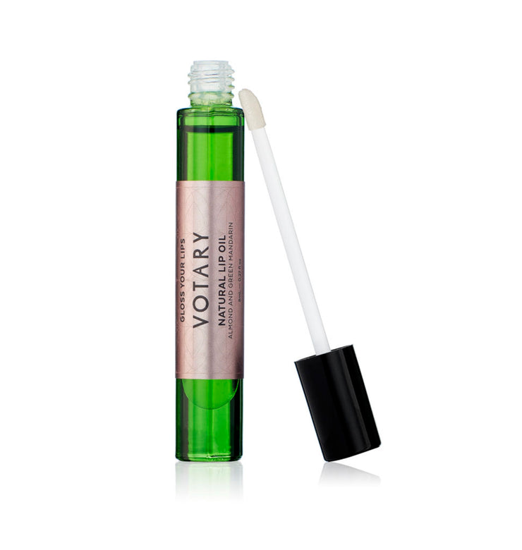 VOTARY Natural Lip Oil - Almond and Green Mandarin 8 ml