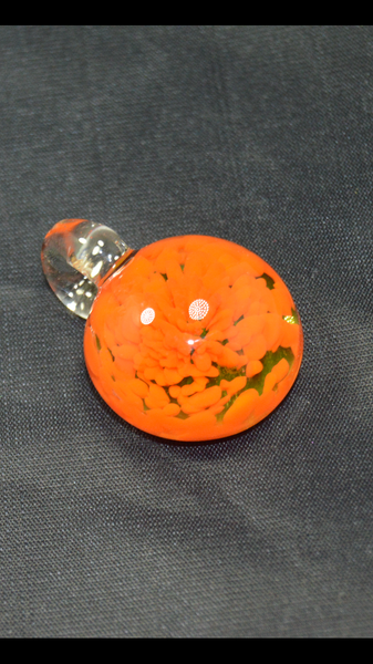 Sherbet Pendant (orange inside out with Illuminatti back) UV reactive