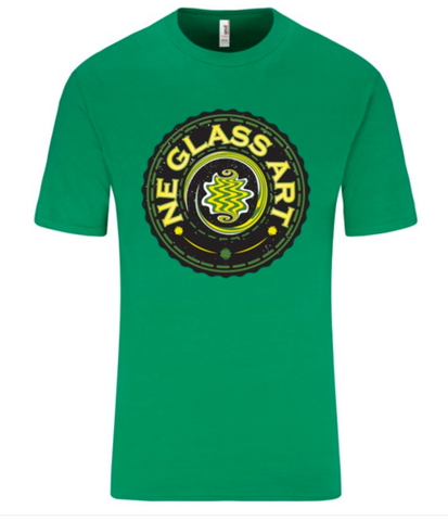 Green T-Shirt w/ NE GlASS ART logo