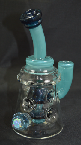 "Big J Beaker Fab 8""  14mm Aqua Azul"