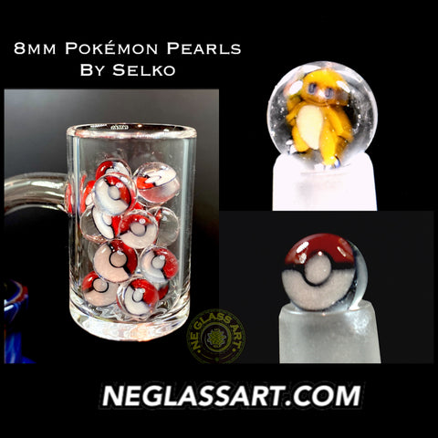 8mm glass pearls by Selko Pokémon