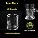 Quartz Insert by Evan Shore x NE Glass (25mm)