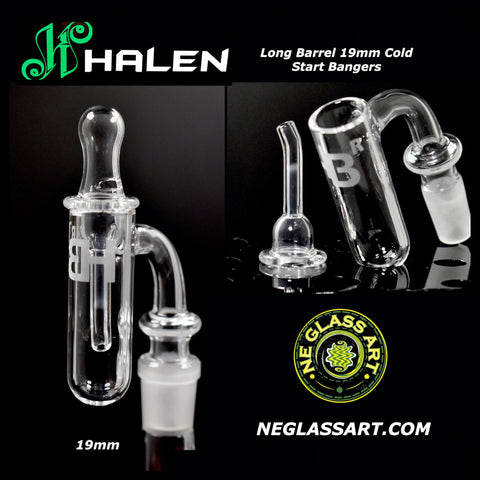 COMBO 19mm Cold Start Quartz Banger + Cap by Joel Halen