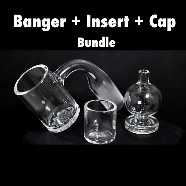 BUNDLE insert + Cap + Beveled Banger Evan Shore x NE Quartz (Handmade Joint)