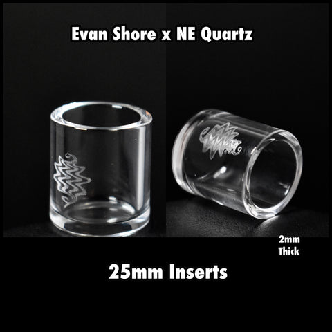 Quartz Insert by Evan Shore x NE Glass (25mm) tweezers included