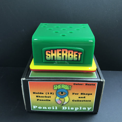 Sherbet Pencil Display Stand (Rasta Colors)