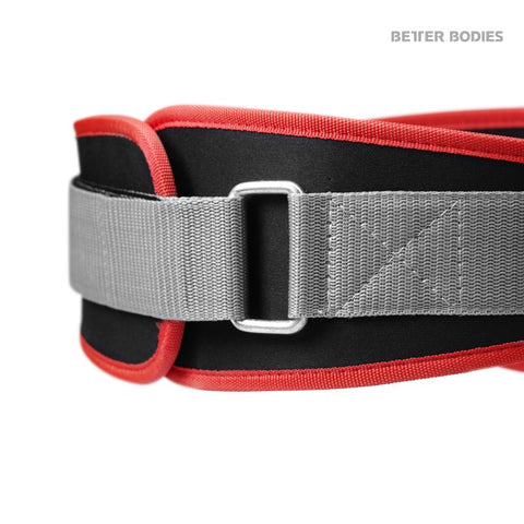 Better Bodies Basic Gym Belt - Black/Red