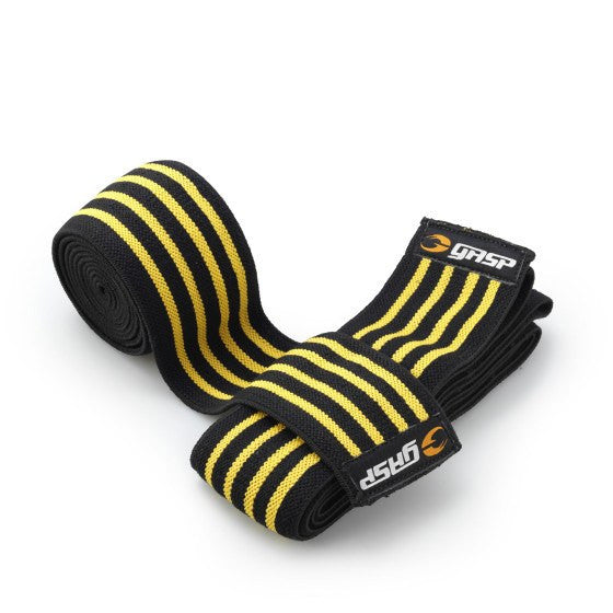 GASP - Knee Wraps Yellow - Musclehouse.dk
