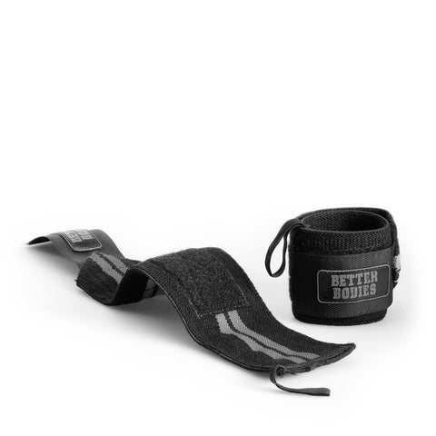 Better Bodies Elastic Wrist Wraps - Black - Musclehouse.dk