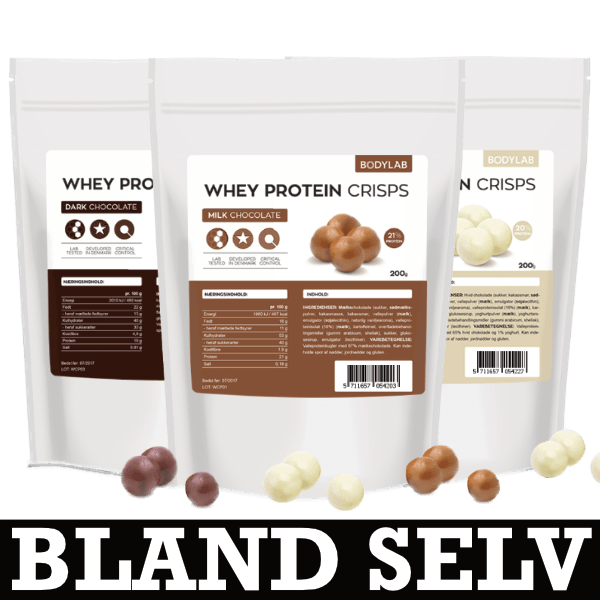 Bodylab Whey Protein Crisps (3x200g) - Musclehouse.dk
