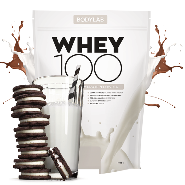 Bodylab Proteinpulver Whey 100 Cookies & Cream Tilbud (1kg) - Musclehouse.dk
