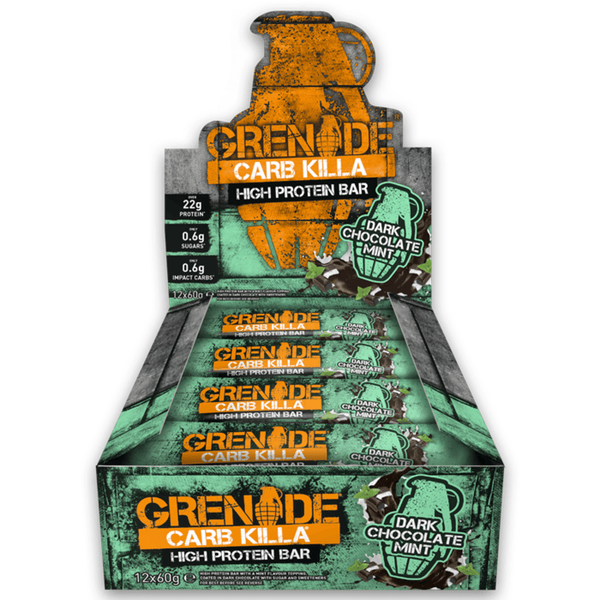 Grenade Carb Killa Dark Chocolate Mint (12x60g) - Musclehouse.dk