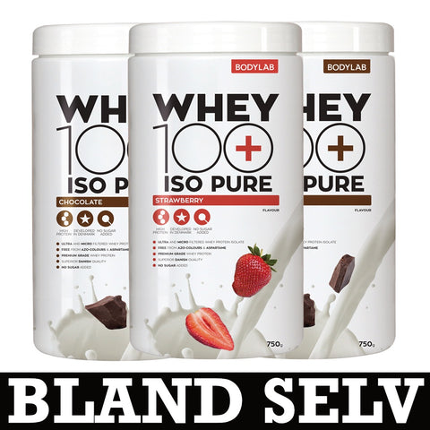 Bodylab Whey 100 ISO Pure (3x 750g) - Musclehouse.dk