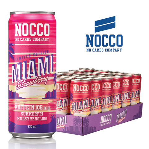 NOCCO - Miami Strawberry (24 stk) - Musclehouse.dk