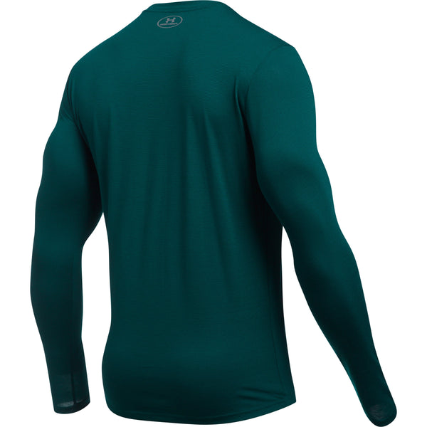Under Armour Threadborne Streaker LS - Green - Musclehouse.dk
