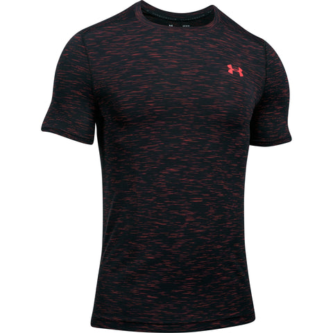 Under Armour Threadborne Seamless SS - Marathon Red - Musclehouse.dk