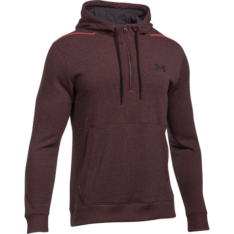 Under Armour Threadborne 1/2 zip hoodie - Marathon Red - Musclehouse.dk