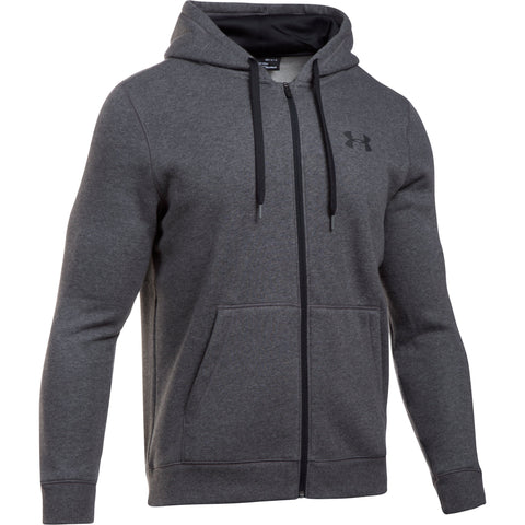 Under Armour Rival Fitted Zip - Carbon Heather - Musclehouse.dk
