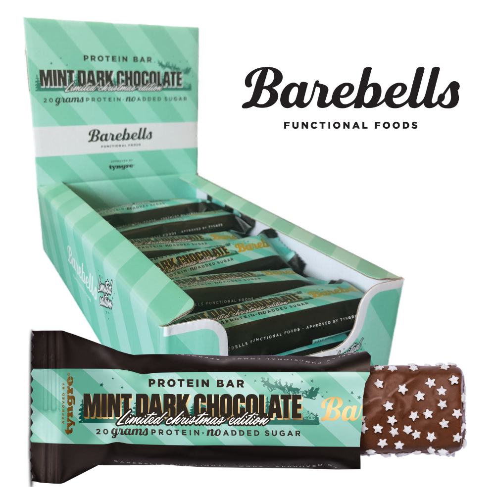 Image of   Køb Barebells Protein Bar Mint Dark Chocolate (12x 55g) - Muscle House