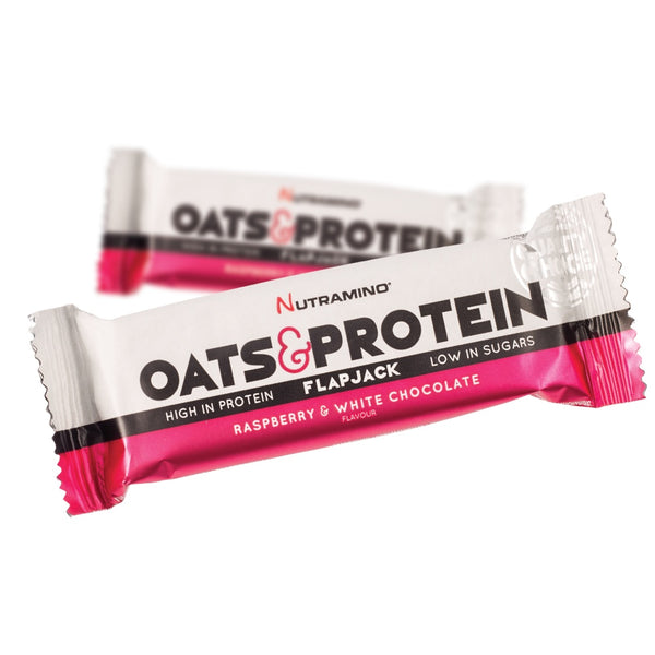 Nutramino Oats & Protein Flapjack Raspberry - White Chocolate (50g)