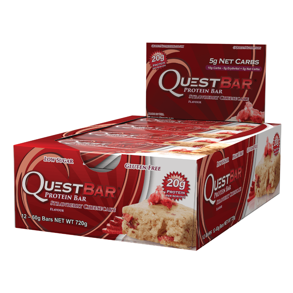 Quest Protein Bar Strawberry Cheesecake (12x60g)