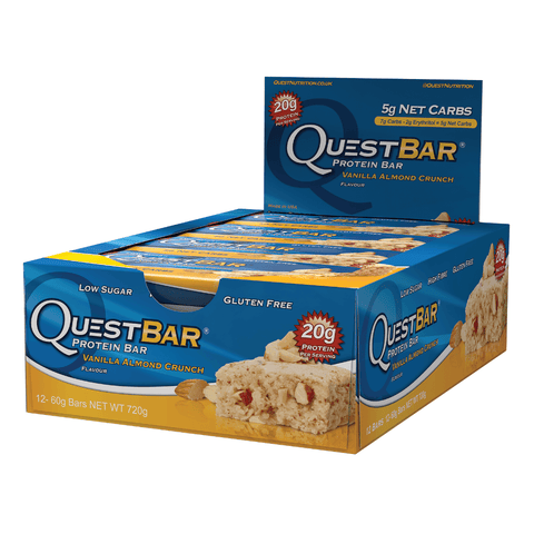 Quest Protein Bar Vanilla Almond Crunch (12x60g) - Musclehouse.dk