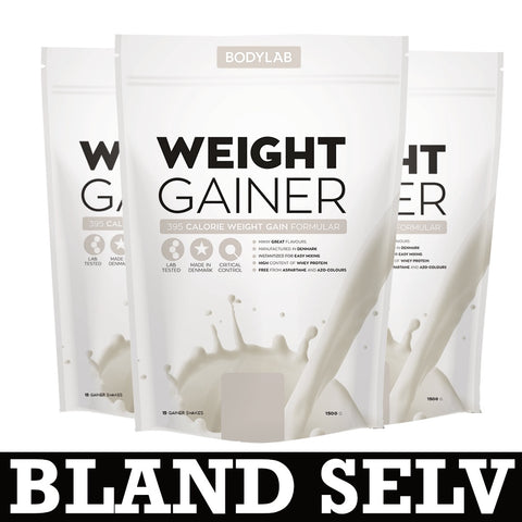 Bodylab Weight Gainer (3x1,5 kg) - Musclehouse.dk
