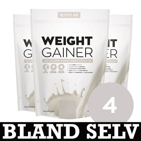 Bodylab Weight Gainer (4x1,5 kg) - Musclehouse.dk