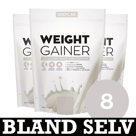 Bodylab Weight Gainer (8x 1,5 kg) - Musclehouse.dk