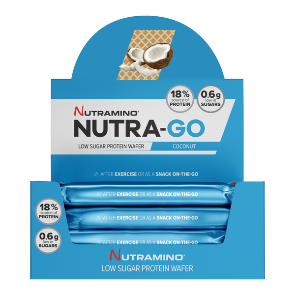 Nutramino Nutra-Go Wafer - Coconut (12x38g) - Musclehouse.dk